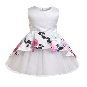 summer hot sale Baby Girl Princess Dress Kids Sleeveless Dresses For Birthday and wedding party ball Gown baby girl clothes