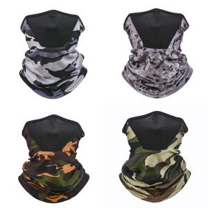 Camouflage volto della copertura della mascherina Turbante Moda Scaldacollo Fazzoletto Capo Parasole Magia Sciarpe dell'involucro della testa Uomini bicicletta 4 5yt C2
