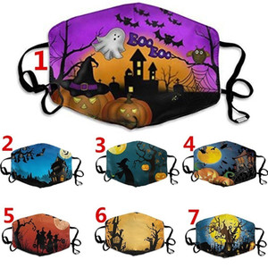 festival adult kid face mask cotton reusable face mask witch house digital sports Halloween cosplay face masks Dust Warm reuseable Mask