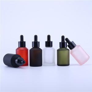 200 x packaging cosmetico 60cc personalizzato bottiglia di olio essenziale 60ml opaco bottiglia contagocce nero inclinazione vetro spalla