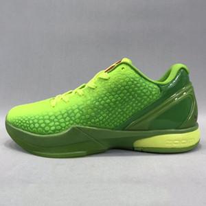 Black Mamba VI 6 GRINCH uomini scarpe sportive Mamba 6 Rosa Verde Basket scarpe nere con il formato scatola di distribuzione libero US7-US12