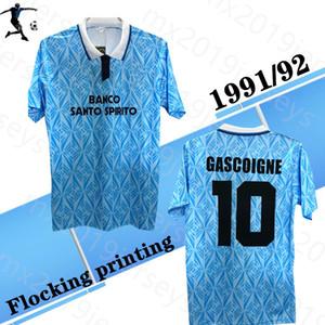 1991 1992 Lazi o Accueil T-shirt de football Rétro Thomas Doll Ruben Sosa Riedle Pin Stroppa 91 92 Chemises de football rétro classique