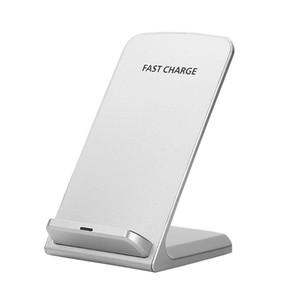 Vertical titular do telefone móvel sem fio do carregador do telefone móvel 5W / 10W indução rápida sem fio da bobina carregador duplo DHL shiping livre