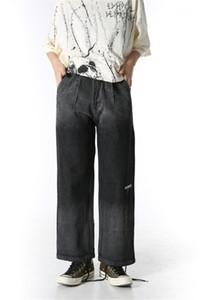 Мода Сыпучие Широкие брюки ноги вскользь Mens Hiphop Омывается Брюки Deisgner мужские джинсы