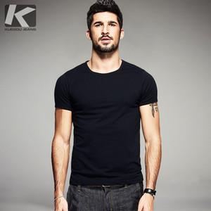 Ropa para hombre verano KUEGOU casual T Shirts 10 Colores sólidos de la marca de ropa de hombre manga corta delgada de las camisetas remata tes más el tamaño 601