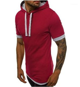 Manica Stile Sport Tshirt Casual Mens Abbigliamento Summer Mens Designer Tees Crew Neck Solid Color Short