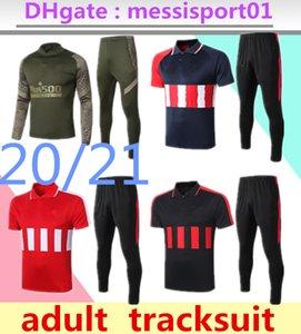 2020/21 Атлетико костюм спортивного костюма Atletico футбол костюм 2020 2021 Мадридского Коке Atletico футбол поло набор короткие и длинные рукава