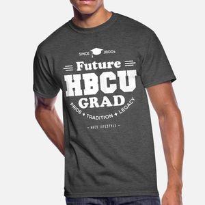 Futuro hbcu Grad jóvenes hombres de la camiseta 100% algodón modificadas para requisitos particulares más el tamaño 3XL camisa de traje de fitness divertido estilo de la letra del verano