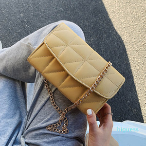 For Designer- Clutch Strap Color Women Luxury Bags Small Female 2020 Messenger Shoulder Crossbody Bag Solid Chain Handbags Travel Purse Bwhr
