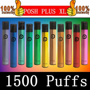 Posh Plus-XL Einweg Vape Geräte Pen 1500Puffs 650mAh Energie Batterie-Pods Vapor Einweg e-Zigaretten Vorgefüllte