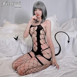 delle DVFkN Jumu donne sexy della biancheria sexy scava-out ad alta elasticità grande Sling maglia intima panno panno di maglia hip-coperto sui sling strenery