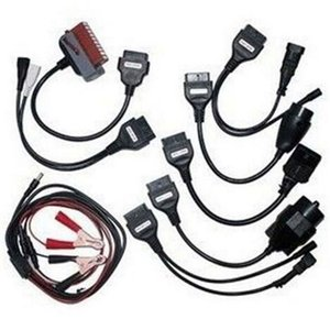 10PCS Lot Adapter Cables For vd ds150e cdp TCS CDP Pro OBD2 OBDII Cars Diagnostic Interface Tool Full set 8 Car Cables For CDP