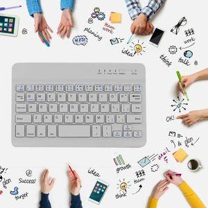 Bluetooth беспроводная клавиатура Аккумуляторная 7-дюймовый портативный Легкая зарядка литий батареи Прочный Practical Универсальный мини