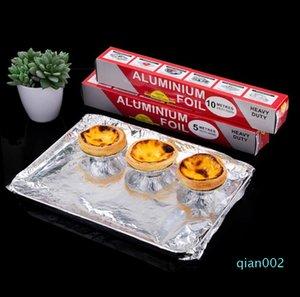 Alüminyum Folyo Kağıt Barbekü Izgara Fırın Pişirme Aracı Alüminyum Folyo Dağıtıcı Wrap Açık Barbekü Malzemeleri 30cm * 5m / 10m Rolls