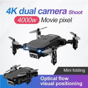 Drone caméra drone TOP66 4K HD Large angle caméra 2MP Pixels WIFI FPV Drone Dual Caméra Hauteur Garder des drones avec des caméras RC Quadcopter