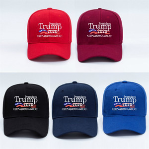 Hot sales Donald Trump 2020 election Caps Keep America Great 3D Embroidery Trump Hat Outdoor Sports sunshade Cap Hats Party Hats FF51