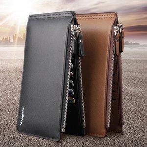 Мода Кожа мужчины кошелек большой емкости 16 Слот для карты держатель известный бренд Bi-Fold Wallet Мужские Наличный Портмоне Бесплатная доставка