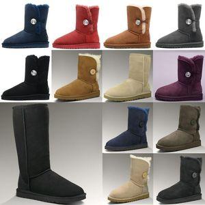 ugg women men kids uggs slippers furry boots slides Australia classici stivali da neve donne della ragazza del bowtie della caviglia breve caricamento del sistema della pelliccia