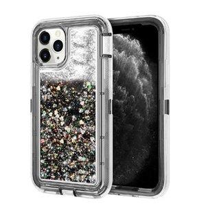 Glitter Premium iPhone 6 7 8 Artı 12 11 Pro Xr X Xs İçin Kılıf Lüks Tasarımcı Kadınlar Telefon Kılıfı ağır zırh quicksand
