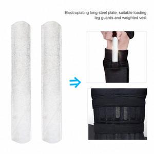 2 pcslot überzogene Stahlplatten für das bereinigte Gewichtsweste und Fitness-Geräte Fitness Zubehör Leg Shin Guards Special Steel Invisible OOUR #