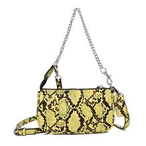 Women's Handbags Serpentine Small Women's Shoulder Bag Chains Fashion Handbag Crossbody Bag For Female Messenger Ladies 2020