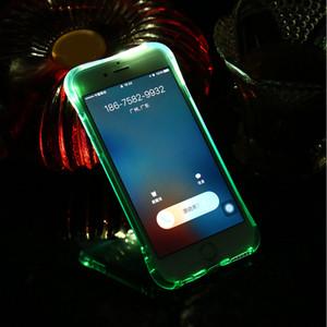 Relembre caso de chamadas de entrada para iphone SE 2020 11 Pro Max XS XR X Max 8 7 6 6S Mais 5 5S SE macio TPU LED Flash Light Up Capa