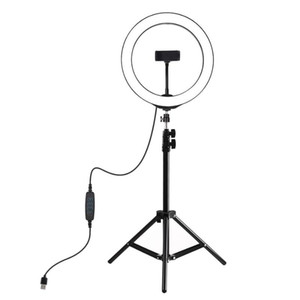 """Flash Heads LED Selfie Ring Light 10.2"""" Pographic Lighting With 50 70 160 210cm Tripod Phone Stand For Tik Tok Youtube Live Video Studio"""
