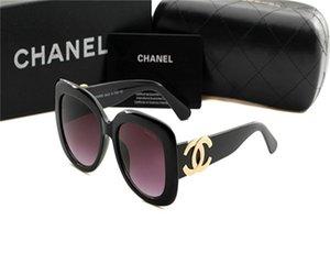 2020 Marca óculos de sol Moda feminina elegante do quadro Óculos de sol Men Retro Sunglass luxuosa da caixa de Chanel