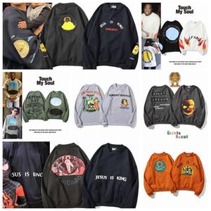 2020 europeas y primavera tendencia americana nuevos jersey par suéter de moda los hombres de Kanye varones sueltos hombres suéter