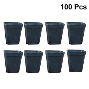 100pcs Flor Praça Pots Mini práticas plantas de plástico Succulent Flower Vasos Vasos Plantadores sem placas de Y200709