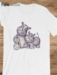 El desgaste unisex al aire libre rinocerontes Animal Zoo Safari personalizable regalo personalizado para la camiseta de la camiseta del envío de la gota camiseta