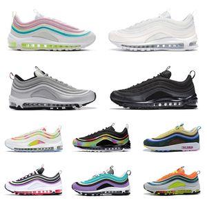 2020 Nike Air max 97 남성 여성을위한 패션 스니커즈 트리플 블랙 화이트 미국 민트 그린 MSCHF SE 사우스 비치 남성 여성 스포츠 남성 트레이너