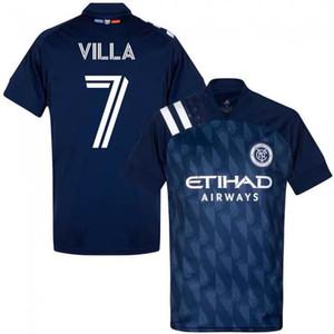 New York City FC 2019 Home Soccer Jersey nycfc MLS PIRLO Moralez LAMPARD DAVID VILLA MCNAMARA MEDINA Football Shirt 2XLTop Qualidade