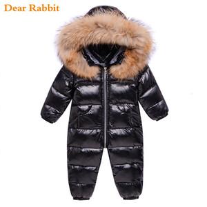 Rusia ropa de invierno los niños abajo niño prendas de vestir exteriores de la capa gruesa impermeables ropa de niña bebé traje para la nieve parka abrigo infantil