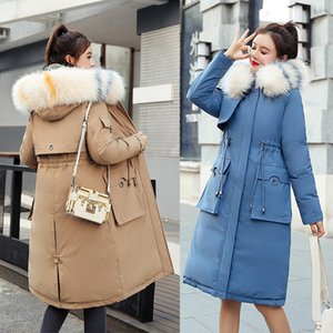 2019 Winter new arrival women coat winter fur collar with a hood thick cotton long jaket for women T200905