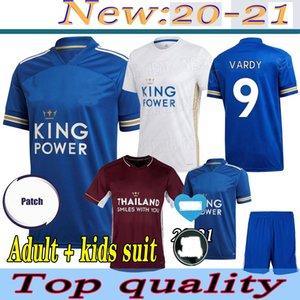 футбол Джерси Таиланд Leicester 20 21 футбола рубашки ГОРОД 2020 2021 Vardy Camiseta NDIDI МЭДДИСОН Майо-де-футовые равномерная Men + детский комплект