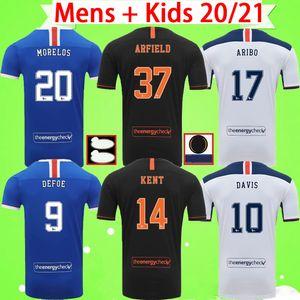 20 21 Rangers Glasgow futbol forması 2020 2021 futbol forması ev uzakta üçüncü Defoe Morelos KENT STEWART ARIBO Arfield yetişkin erkek çocuklar kiti