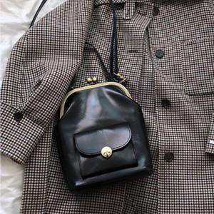 Vintage Clip Womens Bag PU Leather Shoulder Crossbody Designer Brand Women Crossbody Bag Leisure Travel Bag Purse 2020 Sac Chic