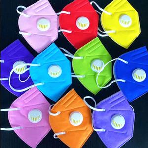 kn95 factory de máscara de embalaje al por menor 95% de filtro 5 de capa de máscaras de respiración mascarilla diseñador carbón activado respirador de la válvula con la válvula