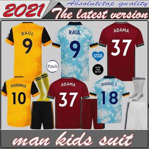 Bambini kit Lupi NEVES RAUL Terzo pullover di calcio 2020-21 ADAMA DIOGO J. Coady NETO Podence DOHERTY Boly J.OTTO Casa Trasferta maglia di calcio