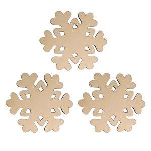 3PCS Holz Meal Coasters Heat Resistant Tragbarer höhlen heraus Milchsuppe Getränke Matten Schalen-Becher