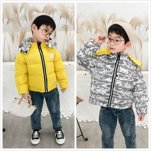 Child Fashion Winter Down Coats Kids MOXCXER Letter Print Coats Kids New Arrival Outwears Wearable on Both Sides Down Jackets