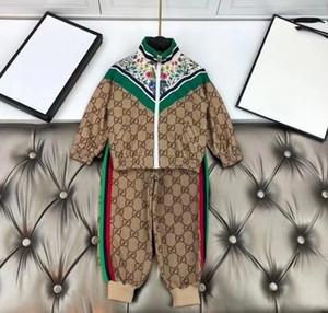 Herbst Neugeborener Sportanzüge Kinder Mantel + Hosen Anzug Kleidung Sets Baby Junge Mädchen Kleidung Set Kinder Outfits Baby
