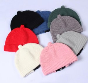 Wool pacifier hat autumn and winter men's and women's fashion melon skin knitted warm woolen hat GD688