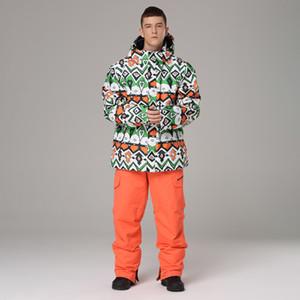 Ski costume homme coupe-vent étanche Vêtements de ski veste et pantalon Snows Snows Snights Marques de ski et de snowboarding costumes pour hommes