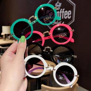 Gafas de sol para niños chicos chicas gafas de moda gafas de sol de marco redondo bebé de protección UV 2021New niños