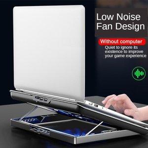Portable Laptop Cooler USB Deux 18 pouces de grande taille Laptop Cooling Pads Vitesse / Hauteur support réglable pour ordinateur portable