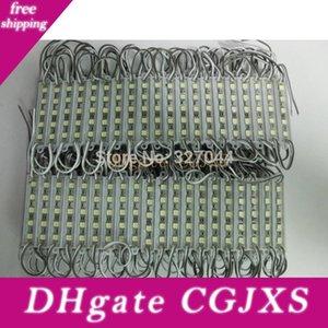 200pcs / Lot Dc12v 5050 5 ha condotto il modulo di illuminazione Dc12v caldo impermeabile moduli LED 20pcs per stringa Bianco Bianco