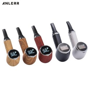 Genuine Anlerr PipeVape Herbva Dry Herb Vaporizer Pen Kit OLED Screen Ceramic Heating TC Tobacco Baking Airflow Bake Pipe Homles DWA1501