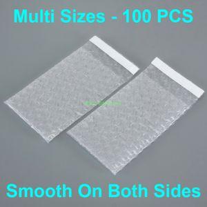 """Múltiples tamaños 100 PC despeja Sobres bolsos de burbuja del sello auto embalaje (Ancho 2.5"""" a 6.7"""" , 65 - 170 mm) x (Longitud 3"""" a 8,7"""" pulgadas, 80 - 220 mm)"""